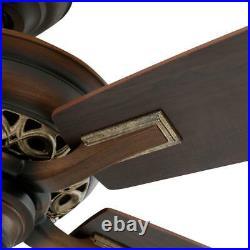 Hampton Bay Havenville 52 in. Indoor Berre Walnut Ceiling Fan with Light Kit