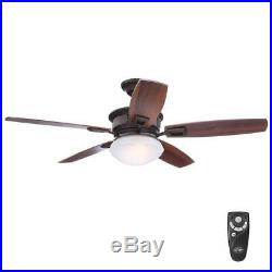 Hampton Bay Lazerro II 52 Oil-Rubbed Bronze Ceiling Fan withLight Kit and Remote