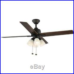 Hampton Bay Malone 54 in. LED Oil-Rubbed Bronze Ceiling Fan with Light Kit
