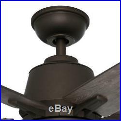 Hampton Bay Marlton 52 in. Indoor Liquid Nickel Ceiling Fan with Light Kit