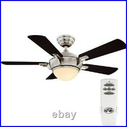 Hampton Bay Midili 44 LED Brushed Nickel Ceiling Fan with Light Kit and Remote