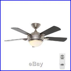Hampton Bay Midili 44 in. Indoor Brushed Nickel Ceiling Fan with Light Kit 146