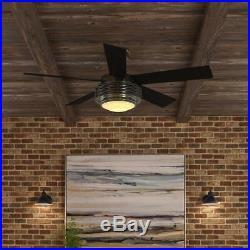Hampton Bay Mondrian 52 Indoor Brushed Nickel Ceiling Fan withLight Kit-Remote C