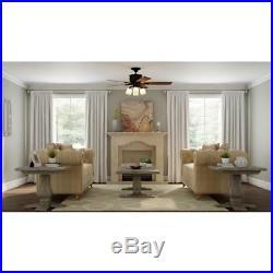 Hampton Bay Oakley 52 in. Indoor Oil-Brushed Bronze Ceiling Fan with Light Kit