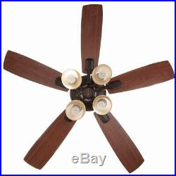 Hampton Bay Oakley 52 in. Indoor Oil-Brushed Bronze Ceiling Fan with Light Kit