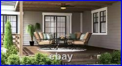 Hampton Bay Roanoke 48 LED Indoor/Outdoor Natural Iron Ceiling Fan with Light Kit