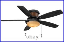 Hampton Bay Roanoke 48 in. Iron Ceiling Fan with Light Kit New