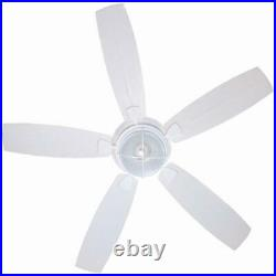 Hampton Bay Sailwind II Matte White Ceiling Fan with Light Kit and Wall Control
