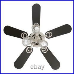 Hampton Bay San Marino 36 LED Indoor Brushed Steel Ceiling Fan with Light Kit