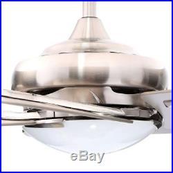 Hampton Bay Sidewinder 54 Indoor Brushed Nickel Ceiling Fan Light Kit & Remote