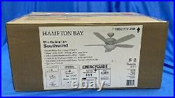 Hampton Bay Southwind 52 in. LED Matte White Ceiling Fan with Light Kit & Remote