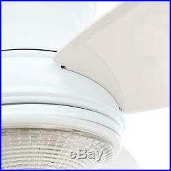 Hampton Bay Sovana 44 in. Indoor White Ceiling Fan with Light Kit and Remote