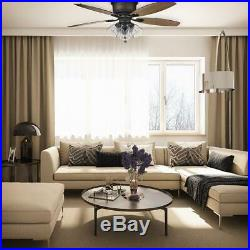 Hampton Bay Stoneridge 52 in. Bronze Hugger LED Ceiling Fan with Light Kit 51825