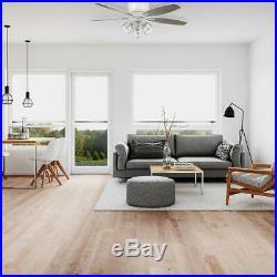 Hampton Bay Stoneridge 52 in. Matte White Hugger LED Ceiling Fan with Light Kit