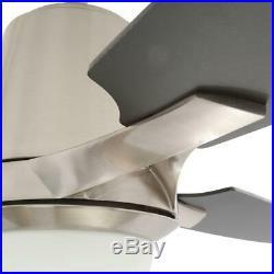 Hampton Bay Stylique II 56 in. Indoor Brushed Nickel Ceiling Fan with Light Kit