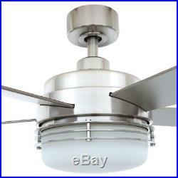 Hampton Bay Sussex II 52 in. Indoor Brushed Nickel Ceiling Fan with Light Kit an