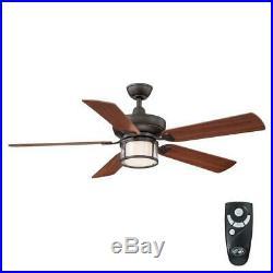 Hampton Bay Tipton II 52 in. Indoor Oil-Rubbed Bronze Ceiling Fan with Light Kit