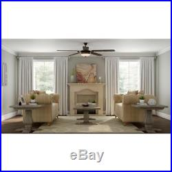 Hampton Bay Victoria 70 Indoor French Beige Ceiling Fan withLight Kit CL11012