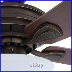 Hampton Bay Wellston New Ceiling Fan with Light Kit 44 Oil Rubbed Bronze