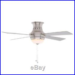 Hampton Bay Wentworth 52 in. Indoor Brushed Nickel Ceiling Fan with Light Kit 212