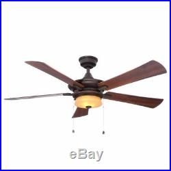 Hampton Bay Winthrop 52 Indoor Rustic Bronze Ceiling Fan withLight Kit YG213A-RB