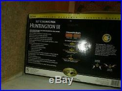HamptonBay Huntington III 52 In. Indoor Flemish Brass Ceiling Fan With Light Kit