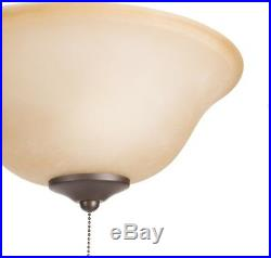 Harbor Breeze 2-Light Black/Bronze Incandescent Ceiling Fan Light Kit with