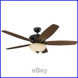 Harbor Breeze Aberly Cove 60 Bronze Ceiling Fan with Light Kit and Remote