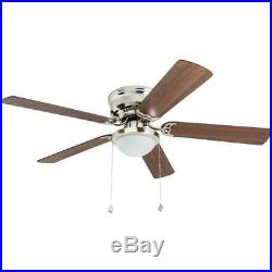 Harbor Breeze Armitage 52-in Brushed Nickel Indoor Ceiling Fan with Light Kit