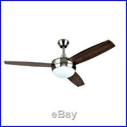 Harbor Breeze Beach Creek 52-in Nickel Indoor Ceiling Fan with Light Kit Remote