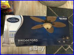 Harbor Breeze Bridgeford 44 Aged Bronze Ceiling Fan withLight Kit New