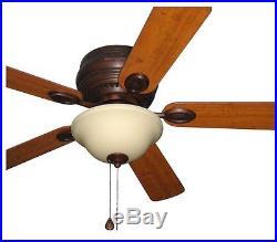 Harbor Breeze Ceiling Fan with Light Kit 44-in Antique Bronze Flush Modern