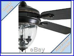 Harbor Breeze Ellesmere 52-in Oil Rubbed Bronze Indoor Ceiling Fan withLight Kit