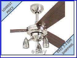 Harbor Breeze Exocet 48-in Brushed Nickel Indoor Ceiling Fan with Light Kit