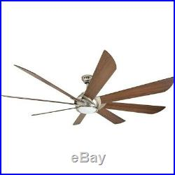 Harbor Breeze Hydra 70-in Brushed Nickel Indoor Ceiling Fan with Light Kit and R