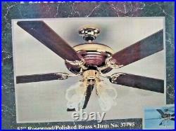 Harbor Breeze Platinum Series 52 Rosewood & Brass Ceiling Fan with Light Kit