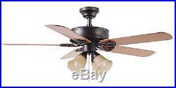 Harbor Breeze Springfield Ii Bronze Indoor Ceiling Fan with Light Kit 52-in NEW