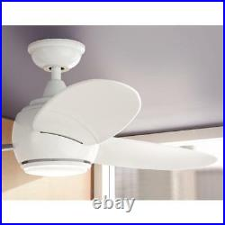 Hedley 54 in. Integrated LED Indoor White Ceiling Fan with Light Kit By Home Decor