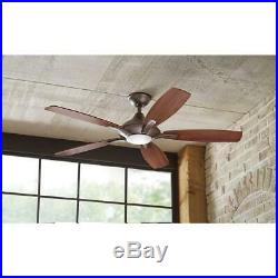 Home DC Petersford 52 LED Indoor Oil Rubbed Bronze Ceiling Fan Light Kit Remote