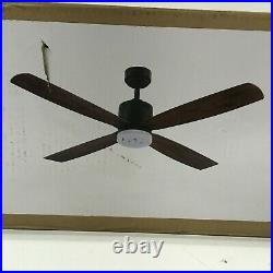 Home Decorators 52 Ceiling Fan Kitteridge LED Light Kit Medium Wood 35442-HBUM