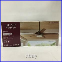 Home Decorators 52 Ceiling Fan Windward Integrated LED Light Kit Oil Rubbed