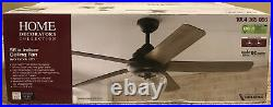 Home Decorators Avonbrook 56 in. Bronze Ceiling Fan with LED Light Kit, Remote NEW