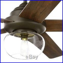 Home Decorators Avonbrook LED Bronze Ceiling Fan with Light Kit Remeote Cont 56