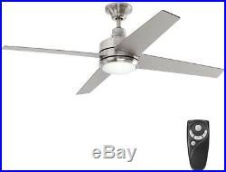 Home Decorators Ceiling Fan LED Light Kit Nickel Brushed Indoor Remote Control
