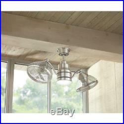 Home Decorators Ceiling Fan Light Kit Oscillating Indoor Outdoor Brushed Nickel