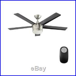 Home Decorators Ceiling Fan Merwry 52in Integrated LED Light Kit Remote Control