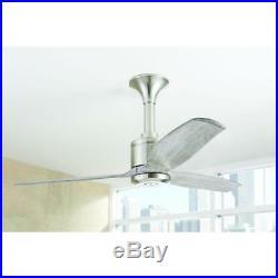 Home Decorators Chaplin 52 in. Indoor Brushed Nickel Ceiling Fan NO LIGHT KIT