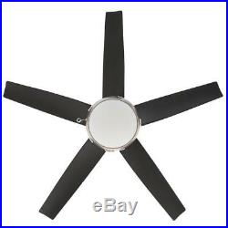 Home Decorators Coll. Windward 44 LED Brushed Nickel Ceiling Fan withLight Kit