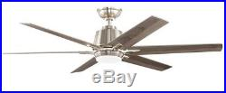 Home Decorators Collection 54 in LED Indoor Brushed Nickel Ceiling Fan Light Kit