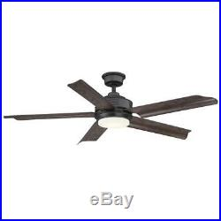 Home Decorators Collection Ceiling Fan LED Light Kit Remote Control Natural Iron